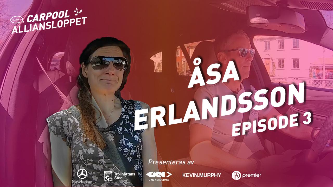 Vignette guest carpool Alliansloppet Åsa Erlandsson